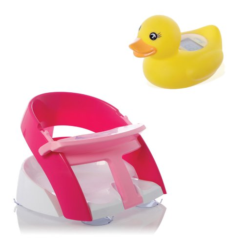 Dreambaby Premium Bath Seat with Room/ Bath Duck Digital Thermometer (Pink)