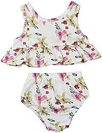 SMARTLADY 0~ 24 meses Bebé Niñas Ropa Chaleco+Pantalones cortos