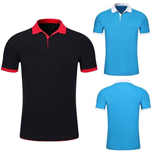 PoloBouton T-Shirt, Malloom Été Men à Manches Courtes Comfy Solid Blouse Slim Top Malloom®_Vêtements