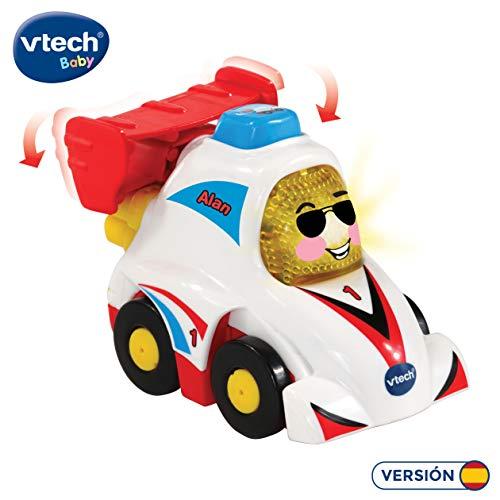 VTech- Alan Fórmula 1 TutTut Bólidos Coche de Carreras Interactivo con Voz, música y Efectos de Sonido, Incluye botón Sorpresa, (80-514222)