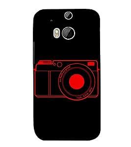 Camera 3D Hard Polycarbonate Designer Back Case Cover for HTC One M8 :: HTC M8 :: HTC One M8 Eye :: HTC One M8 Dual Sim :: HTC One M8s