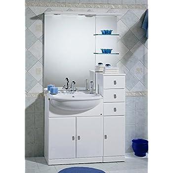 Mobile arredo bagno cleo cm 70 30 con lavabo semincasso for Arredo bagno amazon
