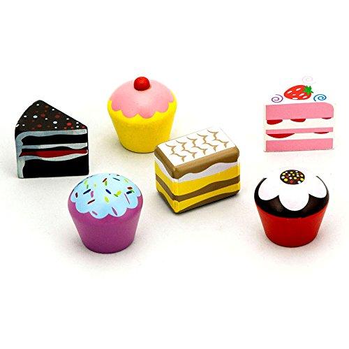 Viga - Pack de 6 pasteles de juguete - Madera