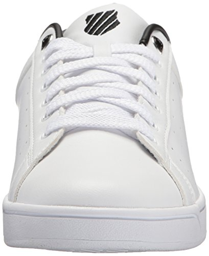 K-Swiss Clean Court CMF, Sneakers Basses Homme Blanc (White/black)