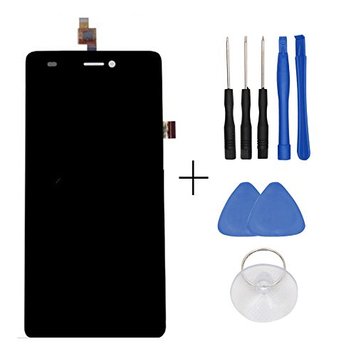 Repair and Replacement LCD Display & Touch Screen Analog-Digital wandler für Wiko highway signs Smartphone + Tools - Schwarz
