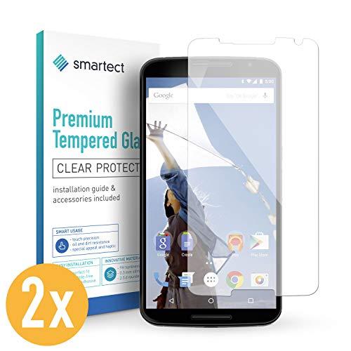 Smartect pellicola in vetro temperato per motorola nexus 6 [2 pezzi] - pellicola protettiva con durezza 9h - salvaschermo anti-impronte e anti-bolle