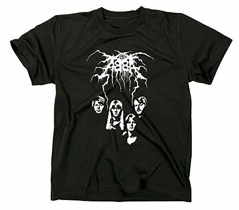 Black Metal Logo Funshirt Fun funny tee cover, L, schwarz