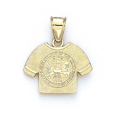 14ct Yellow Gold U.S. Army Logo Shirt Pendant