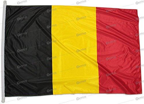 Belgischefahne 150x100 cm aus nautischem Windschutzgewebe von 115 g/m2, waschbare Belgien Flagge 150x100cm, professionelle Belgische Flagge 150x100 mit schnur, Kappnaht und Verstärkungsband am Rand