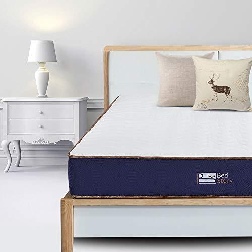 BedStory Matelas à Ressorts ensachés pour lit Simple 90 x 190 cm en Tissu 3D Respirant avec Ressorts ensachés indépendants - Certifié Oeko-Tex