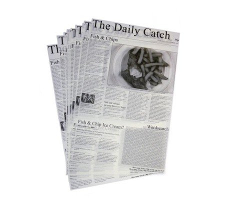 Greaseproof Newspaper Print Paper Fish & Chip Food for sale  Delivered anywhere in UK