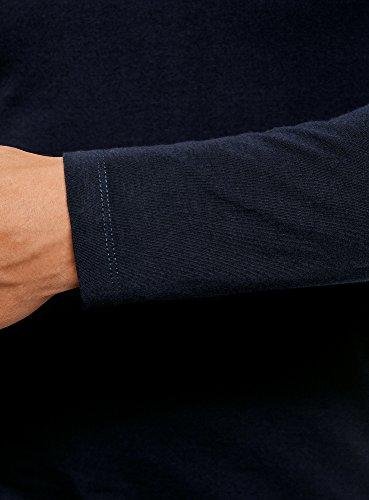 oodji Ultra Herren Rollkragenpullover Basic (2er-Pack) Blau (7901N)