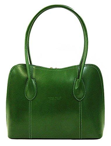 Vera Pelle  Grace, Damen Tote-Tasche braun braun grün