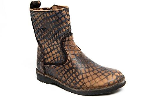 Bisgaard fille enfant de bottes en cuir véritable 50923.215.104/R8 Marron - Marron