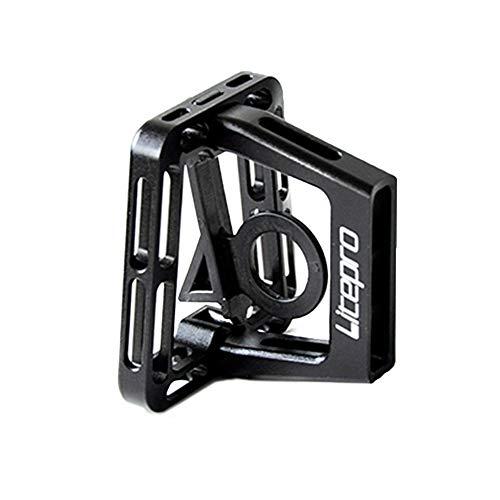 Sguan-wu Aluminiumlegierung-vorderer Trägerblock-Halterungs-Gestell für faltendes Fahrrad Black