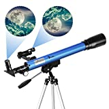 TELMU Telescopio Astronómico - Telescopio Refractor F60050M...