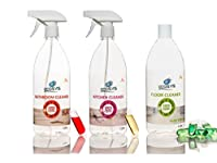 Ecosys Pack Of 3: Floor Cleaner, Bathroom Cleaner & Kitchen Cleaner-1Litre Bottle With Capsule Each