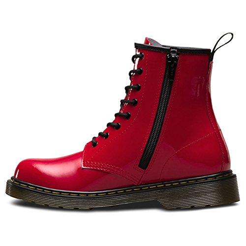 Dr.Martens Youth Delaney 8-Eyelet Leather Boots Rosa Para La Venta En Línea Agradable MFqo5
