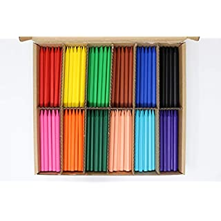 Artcraft Premium Plastic Crayons - 300 Jumbo Pack 12 Different Colours