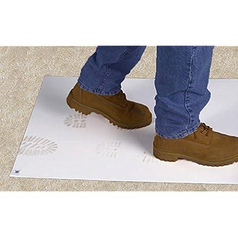 Grande Bianco Sticky protezione del pavimento tappetino da 45x 90