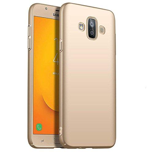 SOCINY Samsung Galaxy J7 Duo Estuche de Gel, Ultradelgado y Delgado, Totalmente Protector, Sensación de Seda, Funda Rígida para PC para Samsung Galaxy J7 Duo (para Samsung Galaxy J7 Duo, Oro)