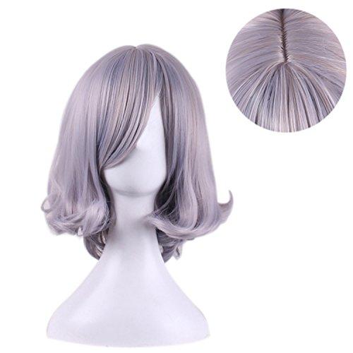 TOUFA Lavendel Perücke Curls Kurze Haare   Halloween-Kostüm Party und Alltagskleidung   Echt Celebrity Perücke Fashion, ()