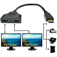 1080p Hdmi Male to Dual Hdmi Female 1 to 2 Way Hdmi Splitter Cable Adapter