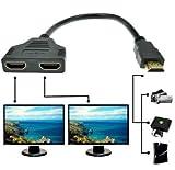 Jambuwala Enterprise 1080p Hdmi Male to Dual Hdmi Female 1 to 2 Way