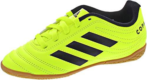 adidas Unisex-Kinder Copa 19.4 In J Fußballschuhe, Mehrfarbig Core Black/Solar Yellow 000, 35 EU