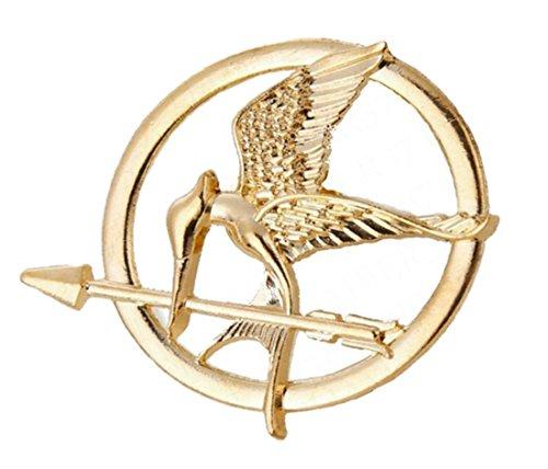 m Spotttölpelbrosche Katniss Everdeen Pin Bogen Kette Umhängekette Umhänger Bronze (Kostüm Schmuck Broschen Uk)