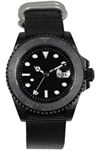 PARNIS PARNIS 3001 0732066353713 - Reloj, Correa de Tela Color Negro de PARNIS