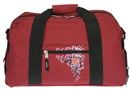 ELEPHANT Sporttasche 41 cm Sport Tasche Schulsporttasche mit SCHUHFACH [ AUSWAHL ] Flower Red