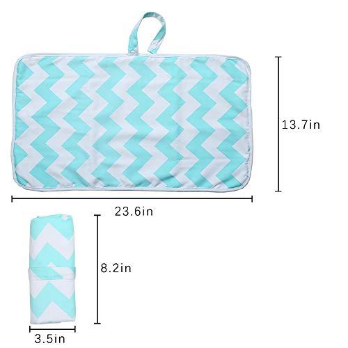 Imagen para Hothuimin - Cambiador portátil para bebé, bolso de pañales, cambiador de pañales y estación de viaje plegable verde verde