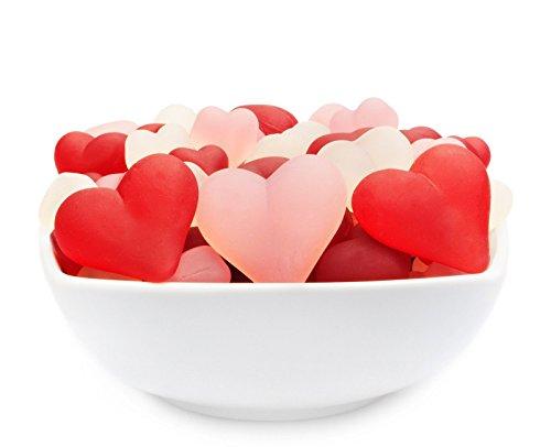 CrackersCompany 'Heart Mix' Gelatinefreie Stärkeherzen – Gelatinefreie Stärke-Herzen mit fruchtigem Geschmack