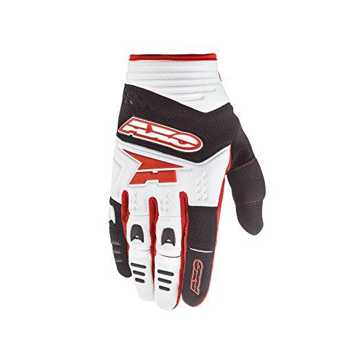 AXO Padlock Handschuhe, Weiss/Schwarz/Rot, M