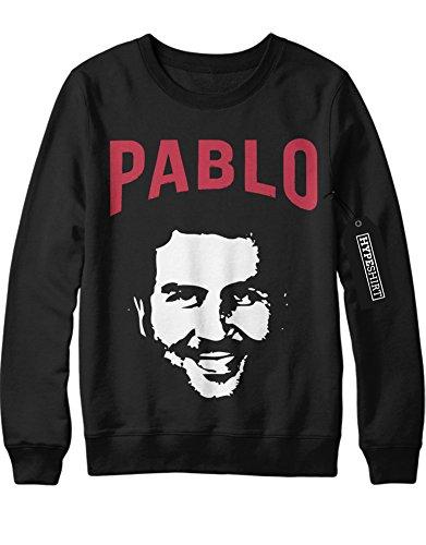 Sweatshirt Pablo Escobar H549343 Schwarz (Kolumbien Kostüme)