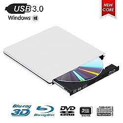 ▶▶ Ce lecteur Blue Ray externe vous permet de lire et de graver des disques Blu-ray (BD), de regarder des films Blu-ray 3D, d'écouter de la musique sur CD, de créer des sauvegardes, d'installer des systèmes d'exploitation et de créer des disques de s...