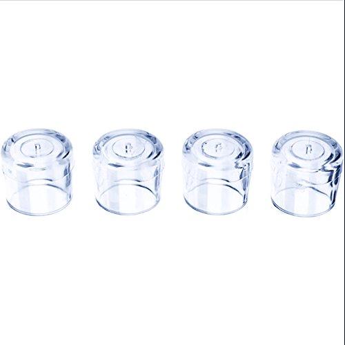 Luckiests 4Pcs Gummi Möbel Tisch Stuhl Bein Stock Fuß-Kappen-Abdeckung Schutz Transparent (Stuhl Bein Abdeckungen)