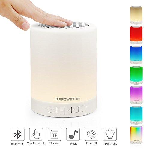 Además de ser una lámpara portátil, también es un altavoz Bluetooth, que le ofrece una luz LED. El altavoz y la música tienen 3 métodos de conexión. La luz y la música se apagan automáticamente después de 20 minutos en modo de suspensión, no dañan lo...