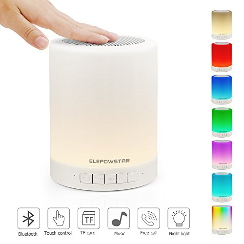 ELEPOWSTAR Multicolor Lampe de chevet LED Touch Portable -...