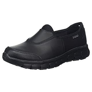 Skechers Women's's Sure Track Work Shoes Black Leather BBK, 6.5 UK 39 1/2 EU