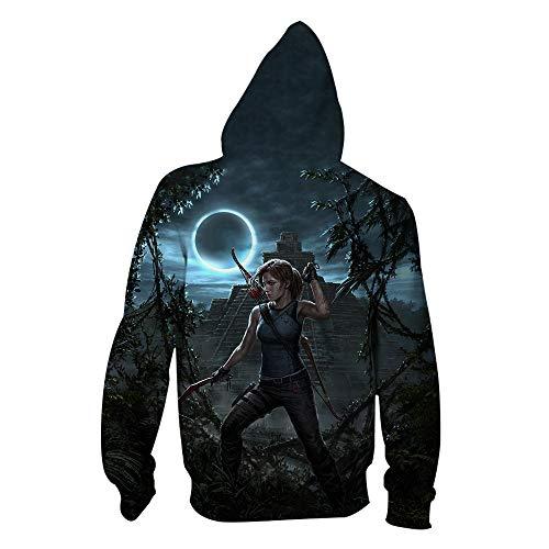 ck Hoodie Kapuzenpullover Langarm Sweatshirt Kapuzenjacke Mit Tunnelzug Pullover Taschen Top Shirt Weihnachten Herbst Rise of The Tomb Raider Zipper XS ()