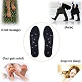 Magnetic Massage Insoles, Effect On Promote Circulatory Fatigue Relieve Health Therapy Massage Insoles Shoe Insoles Pads For Men Women (S(36~42))