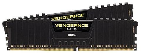 Corsair CMK8GX4M2B3200C16 Vengeance LPX 8GB (2x4GB) DDR4 3200Mhz CL16 Mémoire pour ordinateur de bureau haute performance avec profil XMP 2.0. Noir