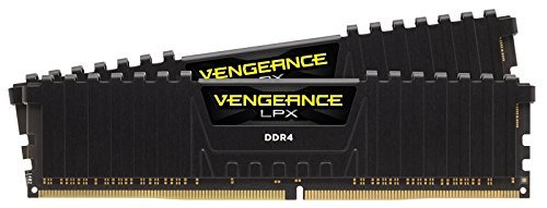 Corsair CMK16GX4M2D3000C16 Vengeance LPX 16 GB (2 x 8 GB) DDR4 3000 MHz C16 XMP 2.0 High Performance Desktop Memory Kit, Black