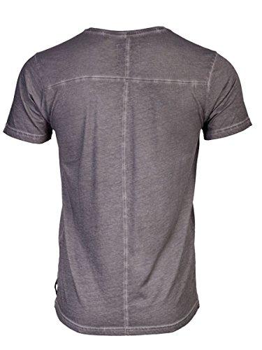 TREVOR'S KENNY cold pigment dyed Herren T-Shirt mit Rundhalsausschnitt und Aufdruck aus 100% Bio-Baumwolle - soziale fair trade Kleidung, Mode vegan und nachhaltig Color loft, Size S - 2