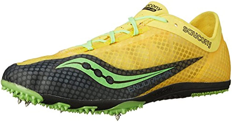 Saucony Men'S Endorphin Track Spike Racing Shoe, Yellow/Black/Slime, 48 D(M) EU/12 D(M) UK