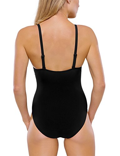 Schiesser 146661 - Maillot de bain une pièce - Femme Noir (Schwarz 000)
