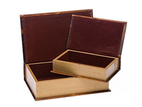 2x Schatulle Napoleon Buchattrappe Box Kästchen Schmucketui Buchtresor book box - 3