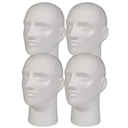 A1Pacific NEW 4pc Male 11 STYROFOAM FOAM MANNEQUIN MANIKIN head wig display hat glasses